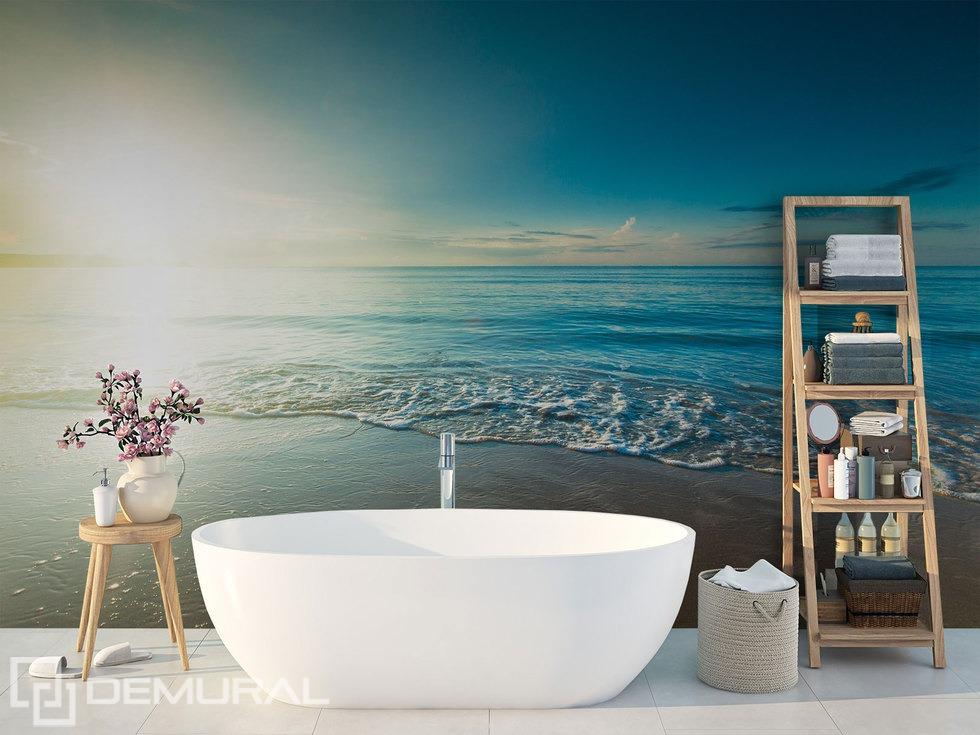 """""""En nageant dans la mer"""" - papier peint pour la salle de bains"""