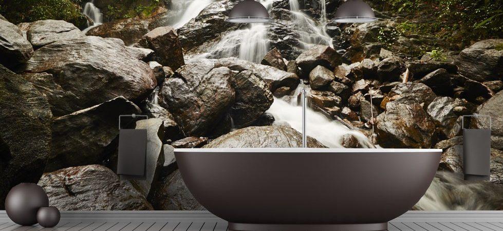 Bruit de la nature - papier peint pour la salle de bains