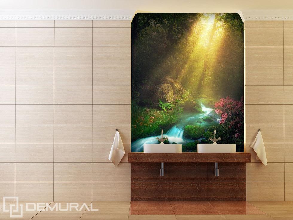 """""""Dans la belle heure de l'aube"""" - papier peint pour la salle de bains"""