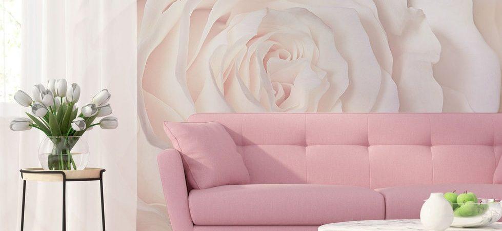 Douceur de la rose - Papier peint pastel