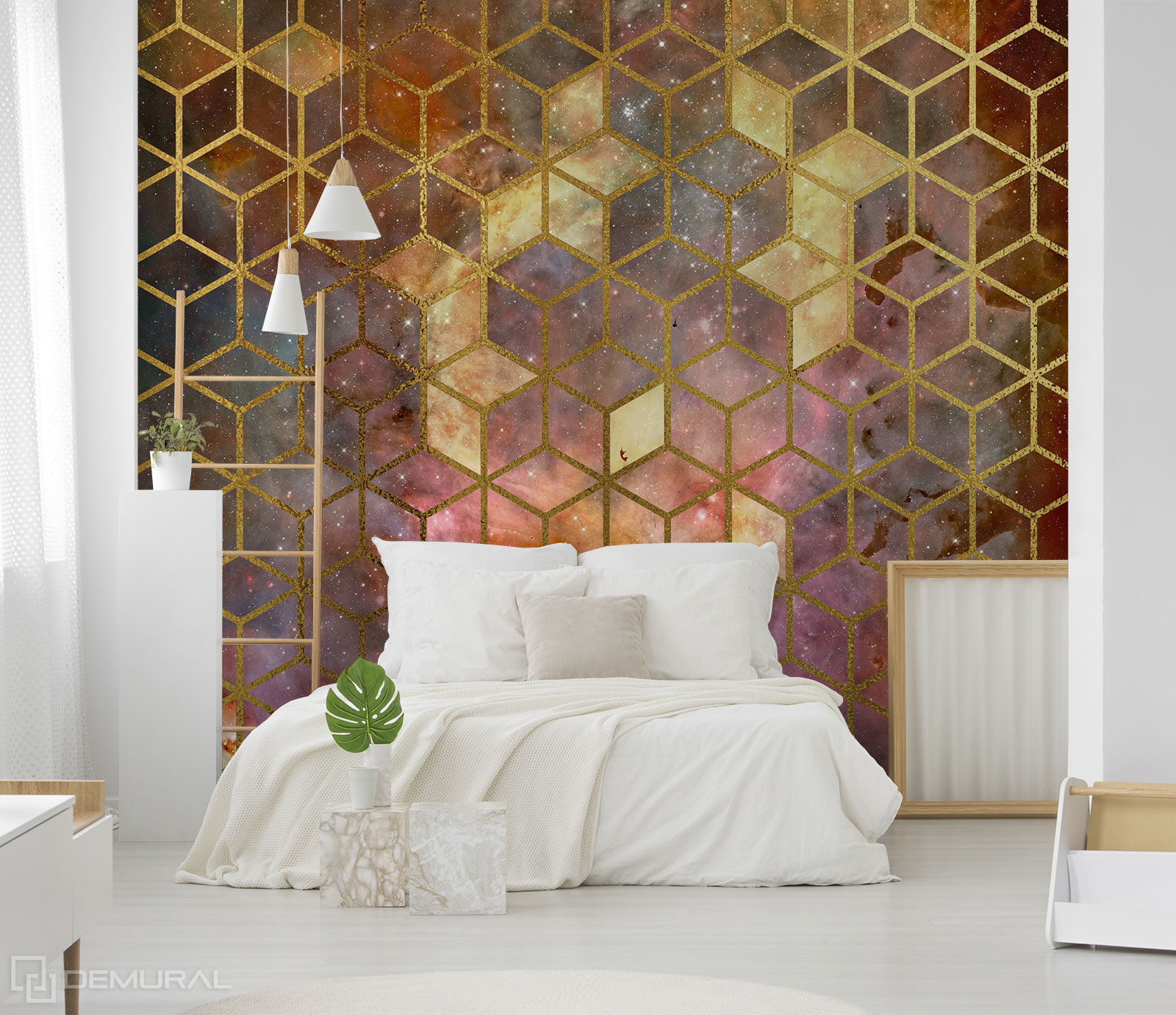 Papier peint cosmos cubique - Papier peint géométrique - Demural