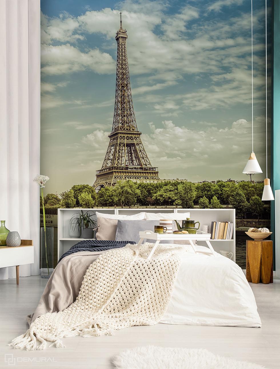 Papiers peints Rêve sur la Seine - papier peint avec la tour Eiffel - Demural
