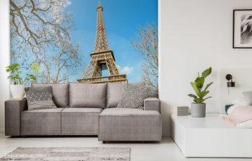 Papier peint photo avec tour Eiffel - Demural
