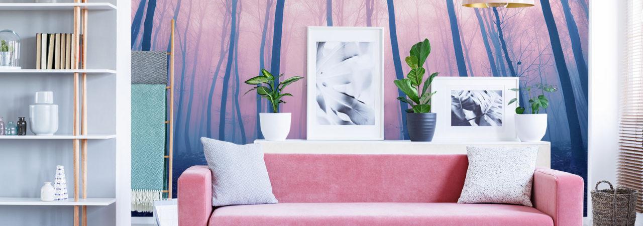 Papier peint rose - Demural