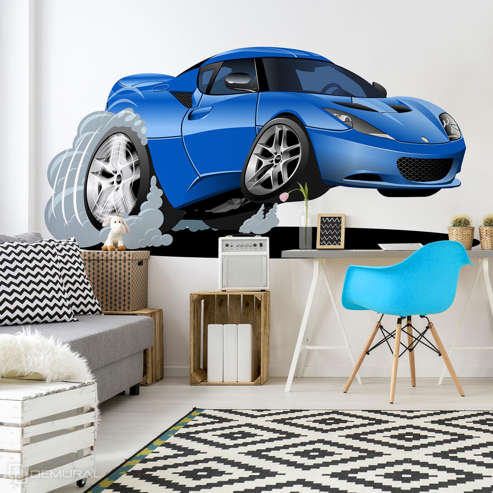 Papier peint Excès de vitesse voiture de jouet - papier peint avec voiture - Demural
