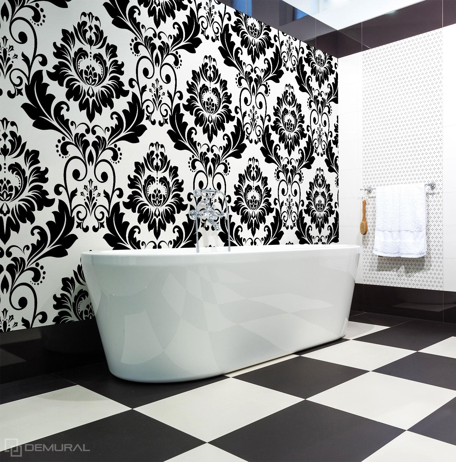 Papier peint Noir et blanc classique - Papier peint noir et blanc - Demural