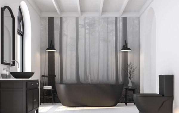 Papier peint noir et blanc - Demural