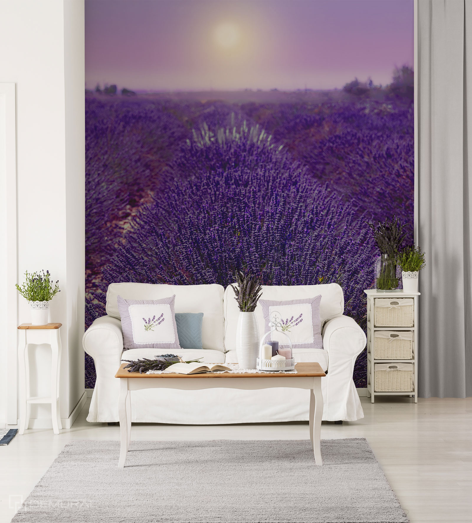 Papier peint Champs provençaux - Papier peint ultra violet - Demural