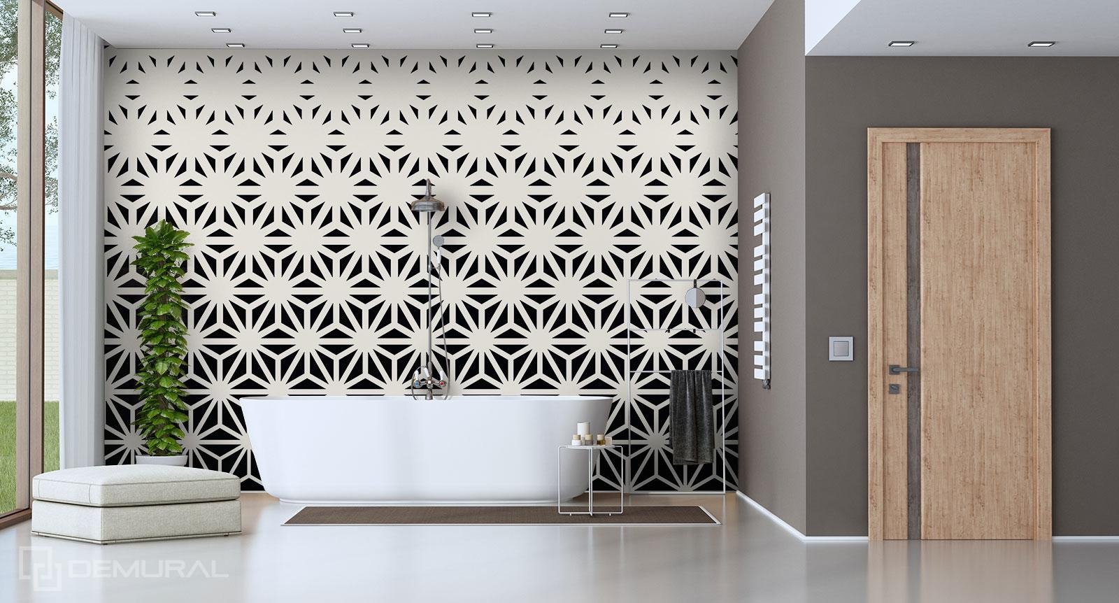 Papier peint Géométrie - Papier peint de la salle de bains - Demural