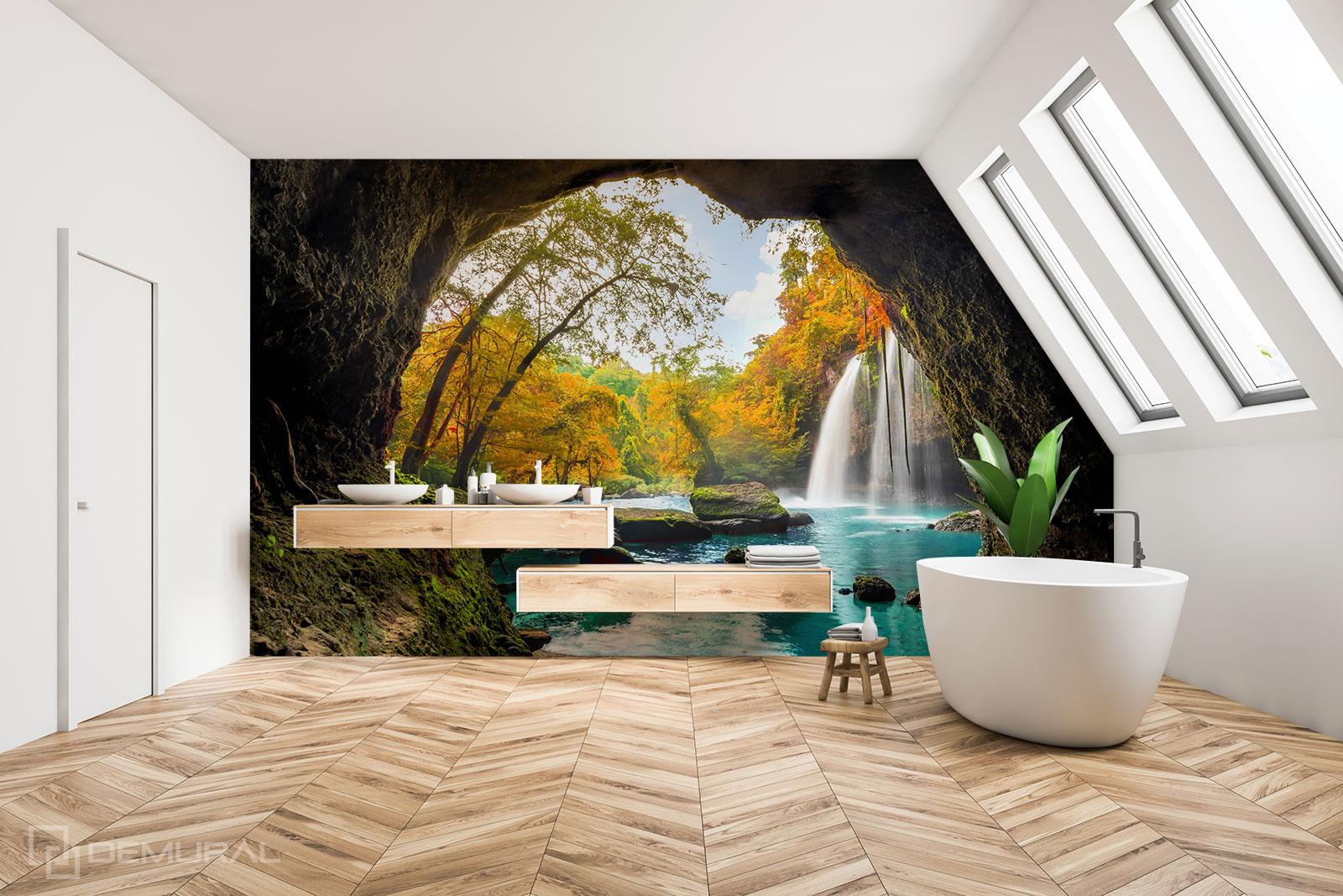 Papier peint Oasis privée - Papier peint de la salle de bains - Demural