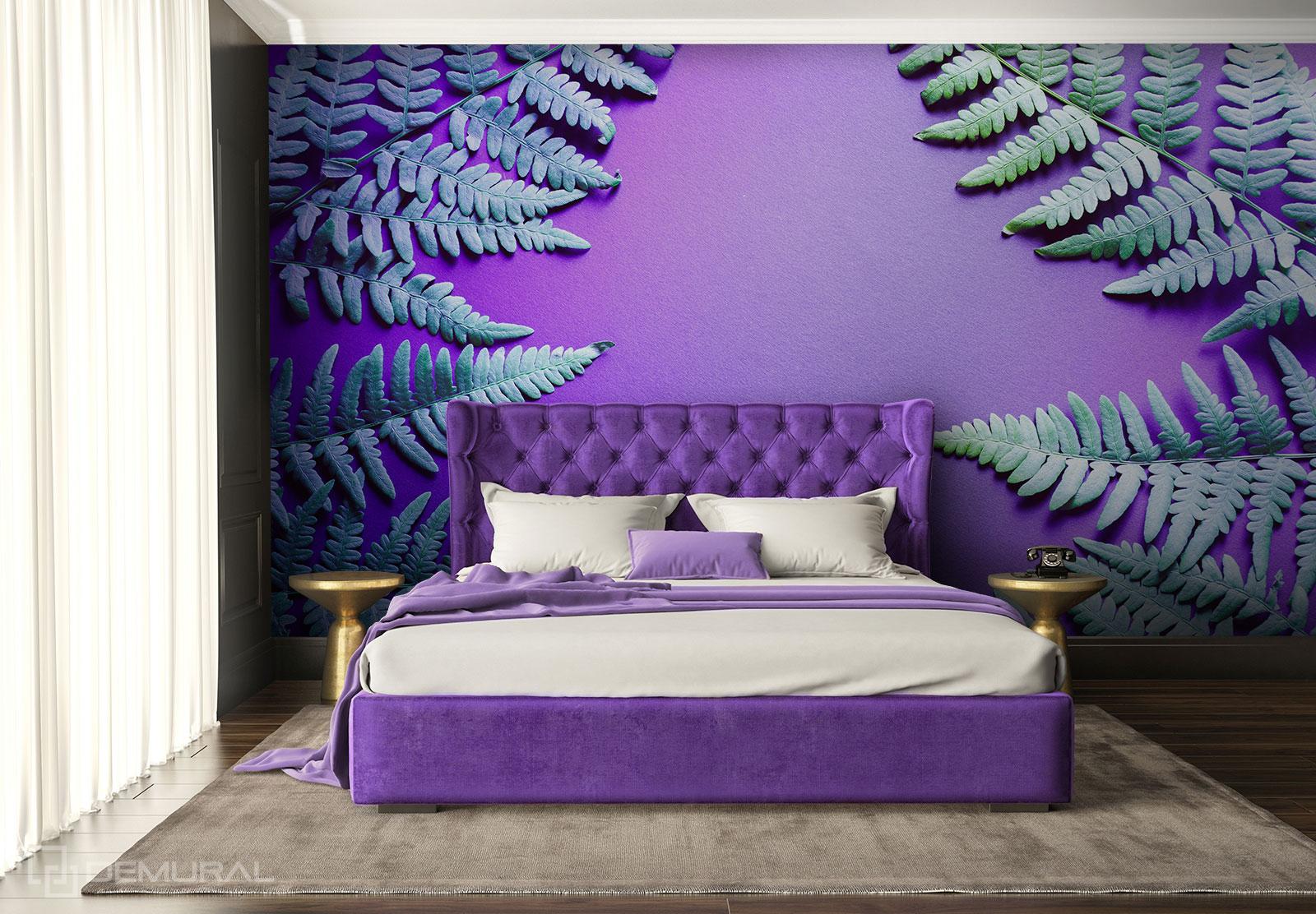 Papier Peint Fleur de fougère - Papier peint ultra violet - Demural
