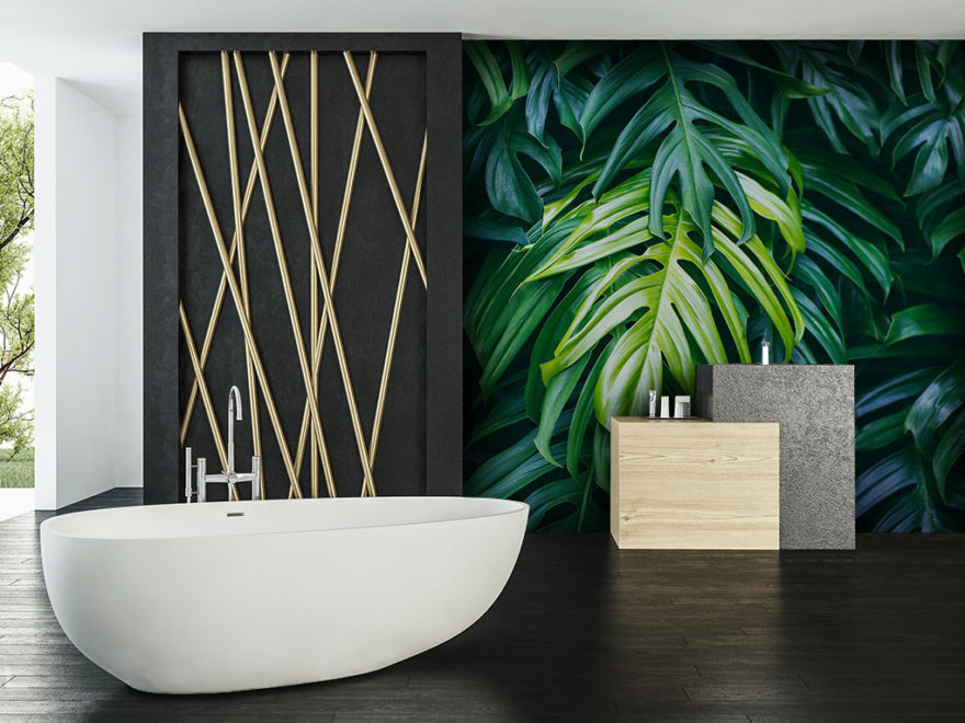 Papier peint de la salle de bains - Demural