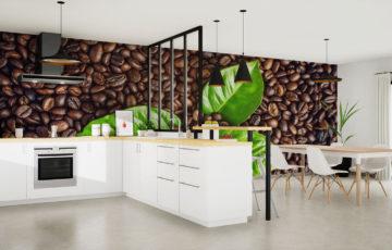 Papier peint du café - Demural