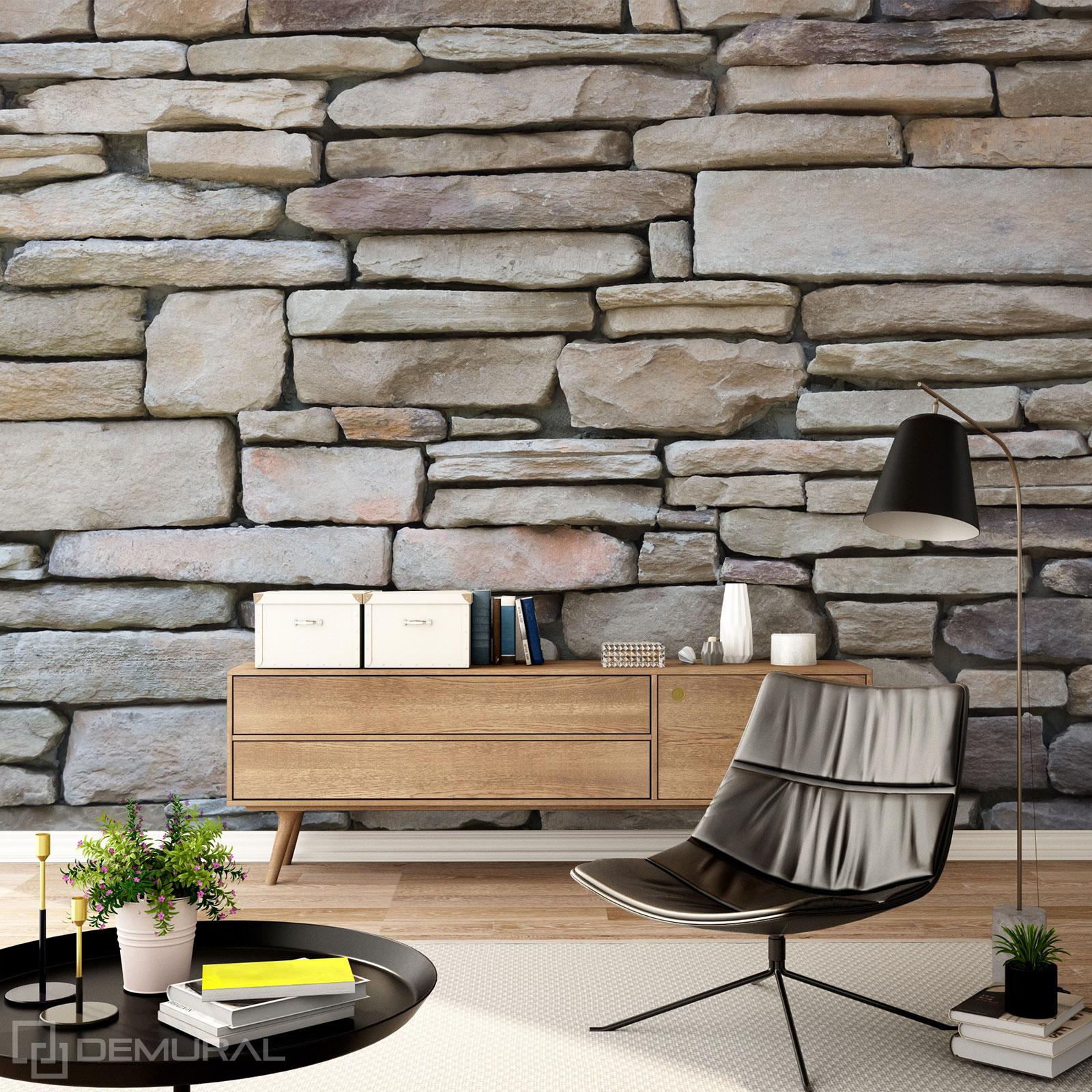 Papier peint Mur de pierre - Papier peint 3D - Demural