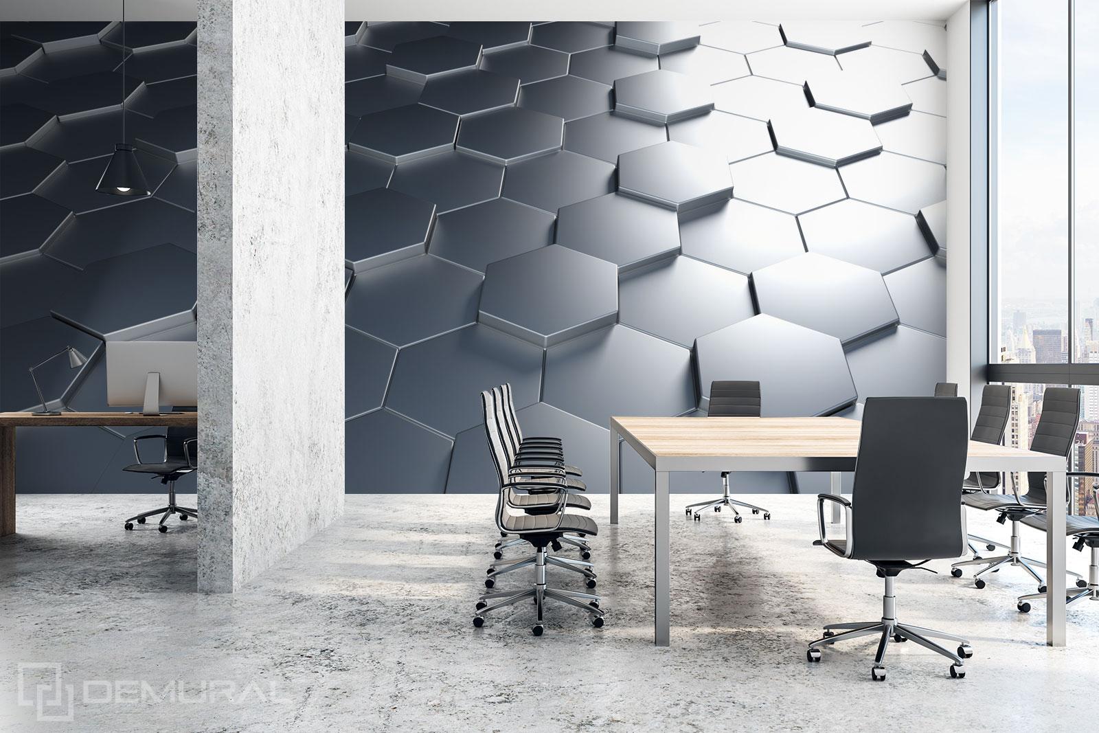 Papier peint Hexagones 3D - Papier peint 3D - Demural