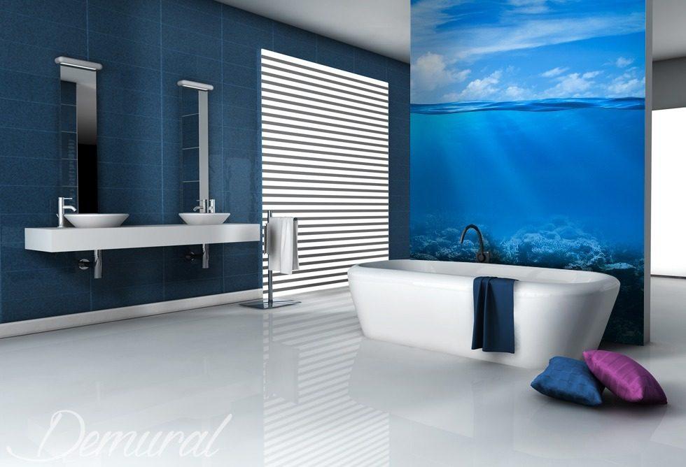 grand ciel papier peint pour la salle de bain papiers peints demural. Black Bedroom Furniture Sets. Home Design Ideas