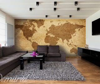 papiers peints carte du monde demural. Black Bedroom Furniture Sets. Home Design Ideas