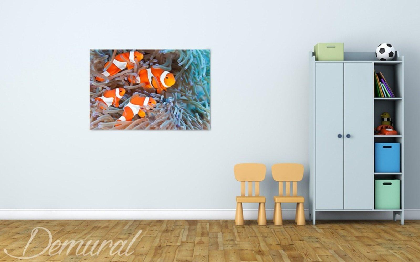 Aquarium au mur tableaux pour chambre d 39 enfant for Accrochage tableaux au mur