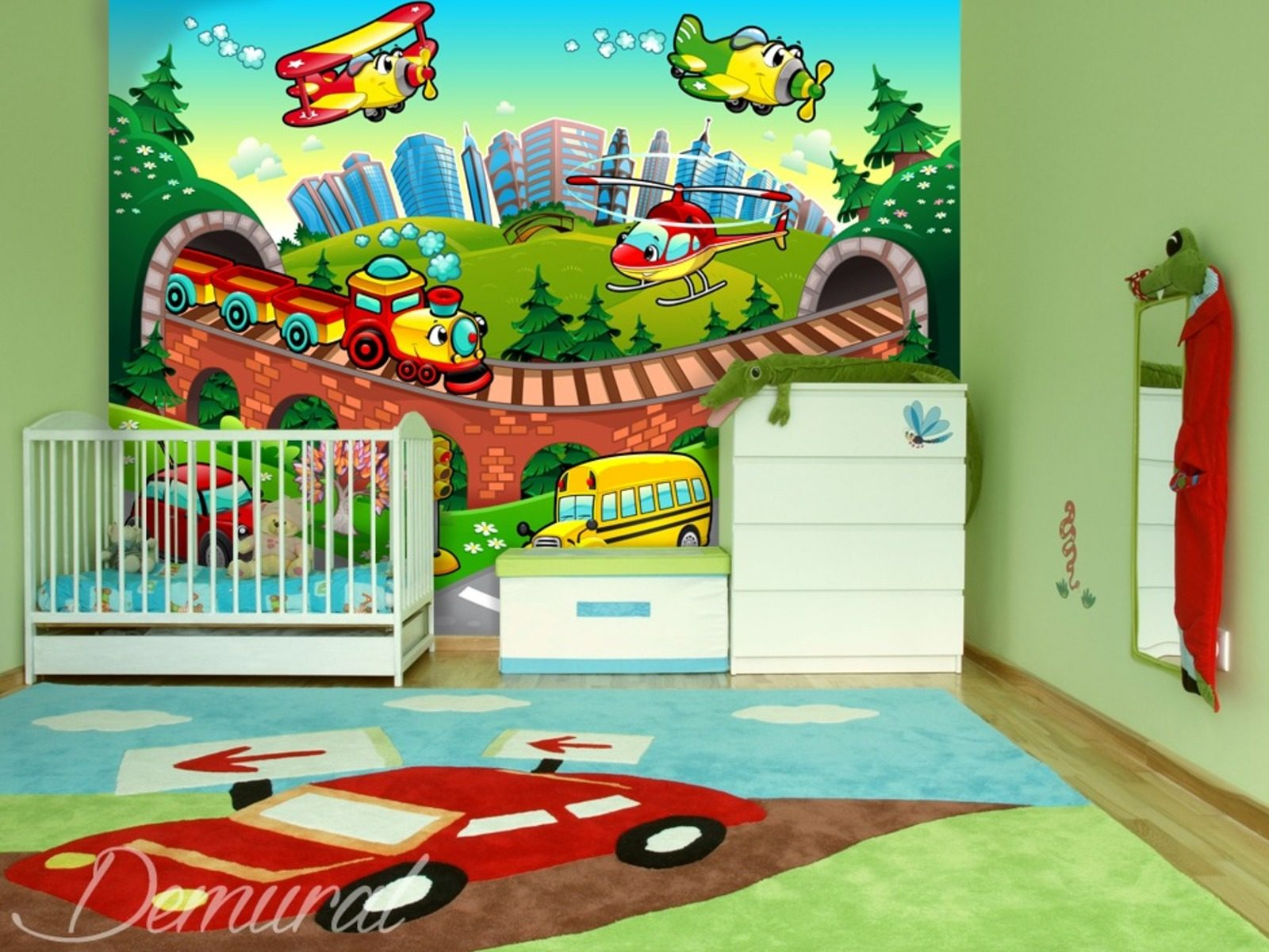 Atterissage en douceur papier peint pour la chambre d - Papier peint chambre d enfant ...