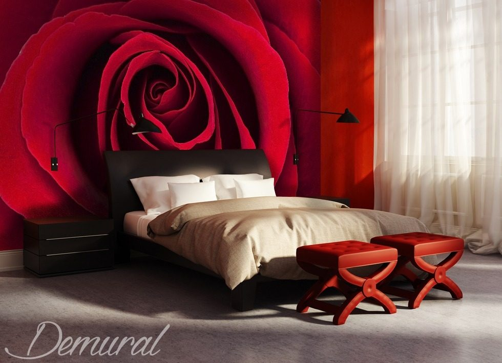 couvert de roses papier peint pour le chambres coucher. Black Bedroom Furniture Sets. Home Design Ideas