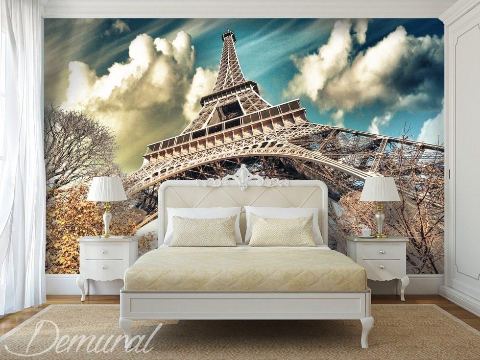 sous le toit de paris papiers peints tour eiffel papiers peints demural. Black Bedroom Furniture Sets. Home Design Ideas