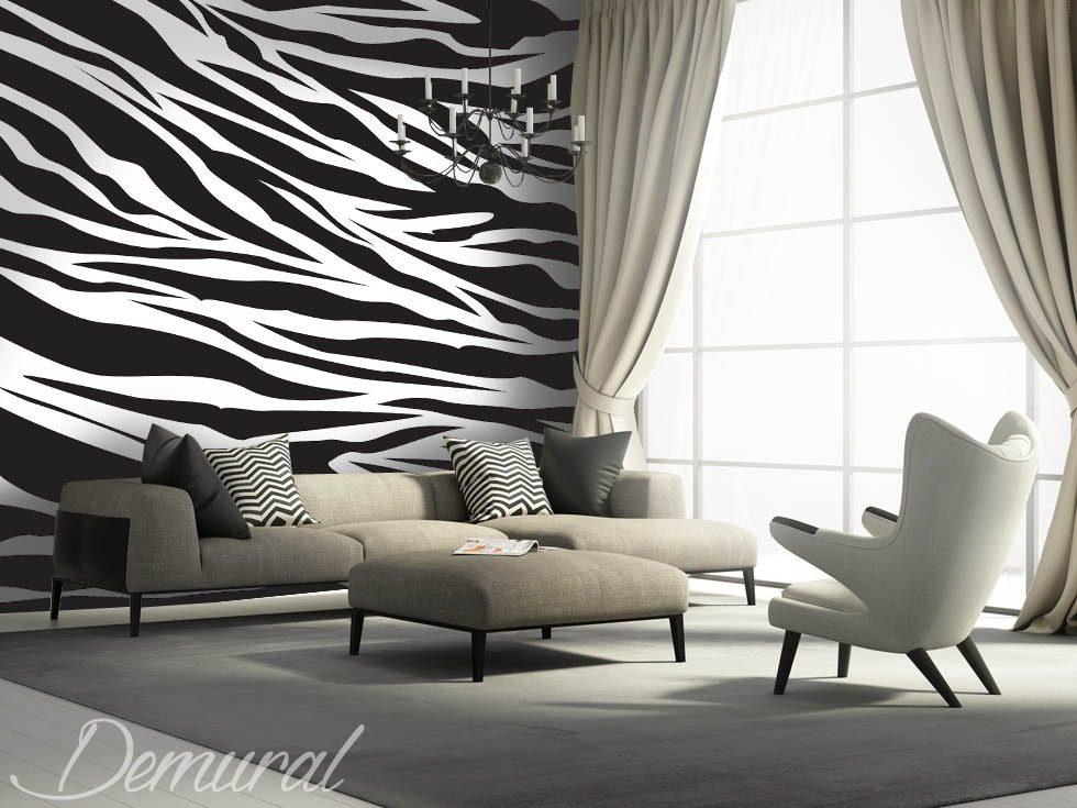 Bruit de zèbre - Papiers peints noir et blanc - Papiers peints - Demural