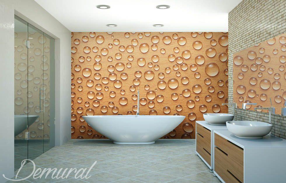 Bain dans la mousse papier peint pour la salle de bain papiers peints demural - Papier peint dans salle de bain ...