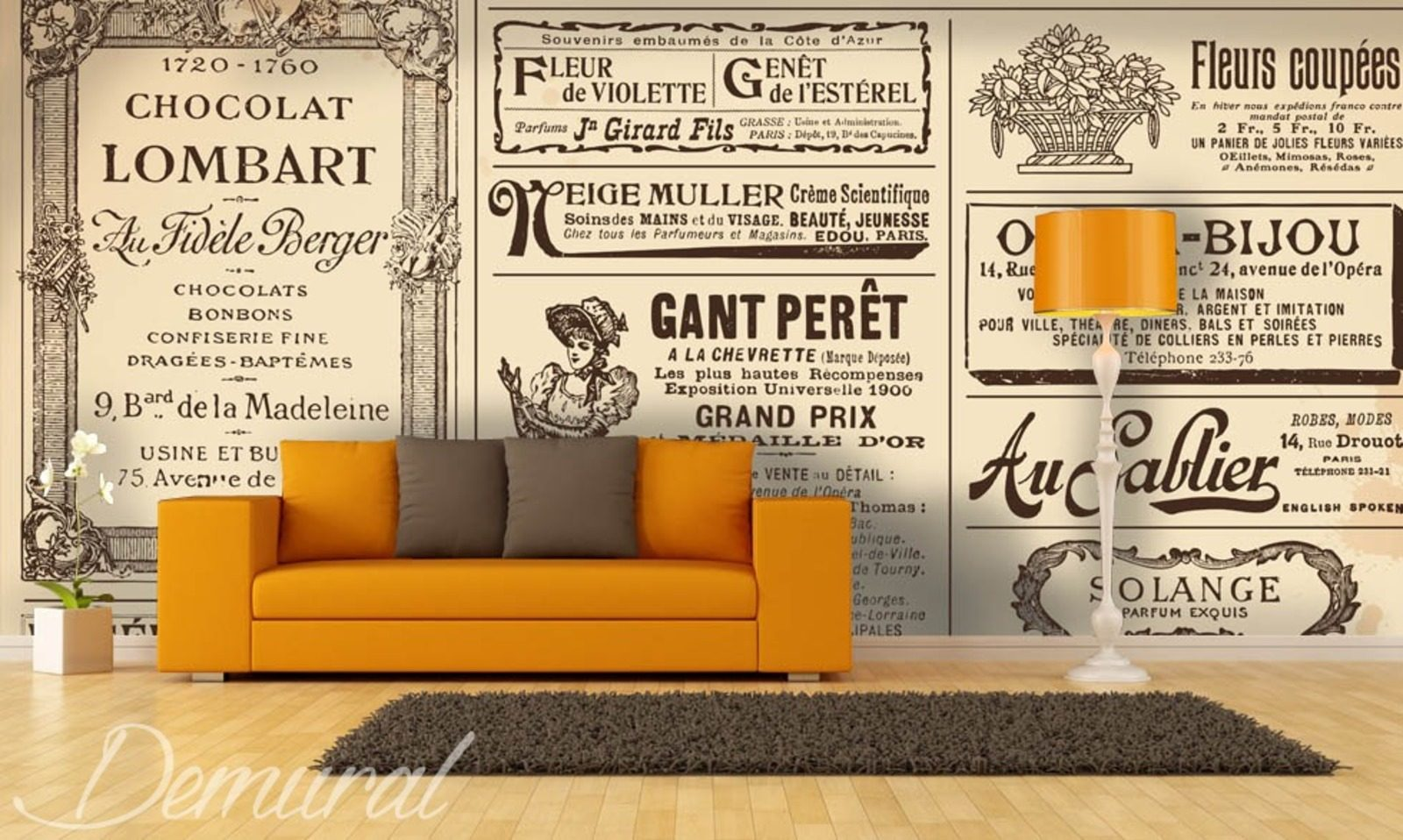 salon de presse papier peint pour living room le salon papiers peints demural. Black Bedroom Furniture Sets. Home Design Ideas