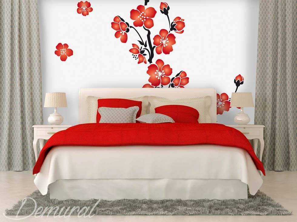 Cocquetterie des fleurs papier peint pour le chambres - Papier peint pour chambre a coucher ...