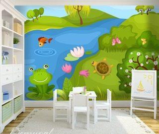 Cocquetterie des fleurs papier peint pour le chambres for Papier peint pour chambre d enfant