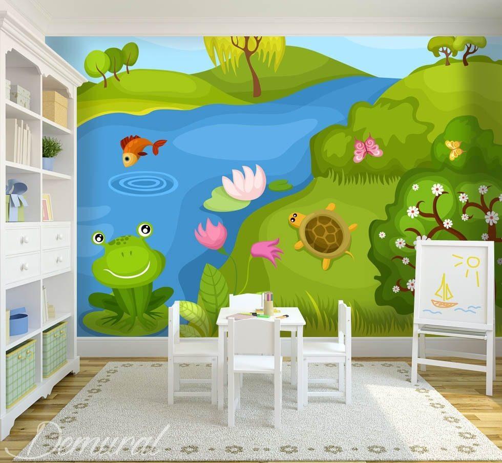 Embrasse la grenouille sur sa patte papier peint pour la chambre d 39 enfant papiers peints - Papier peint chambre enfant ...