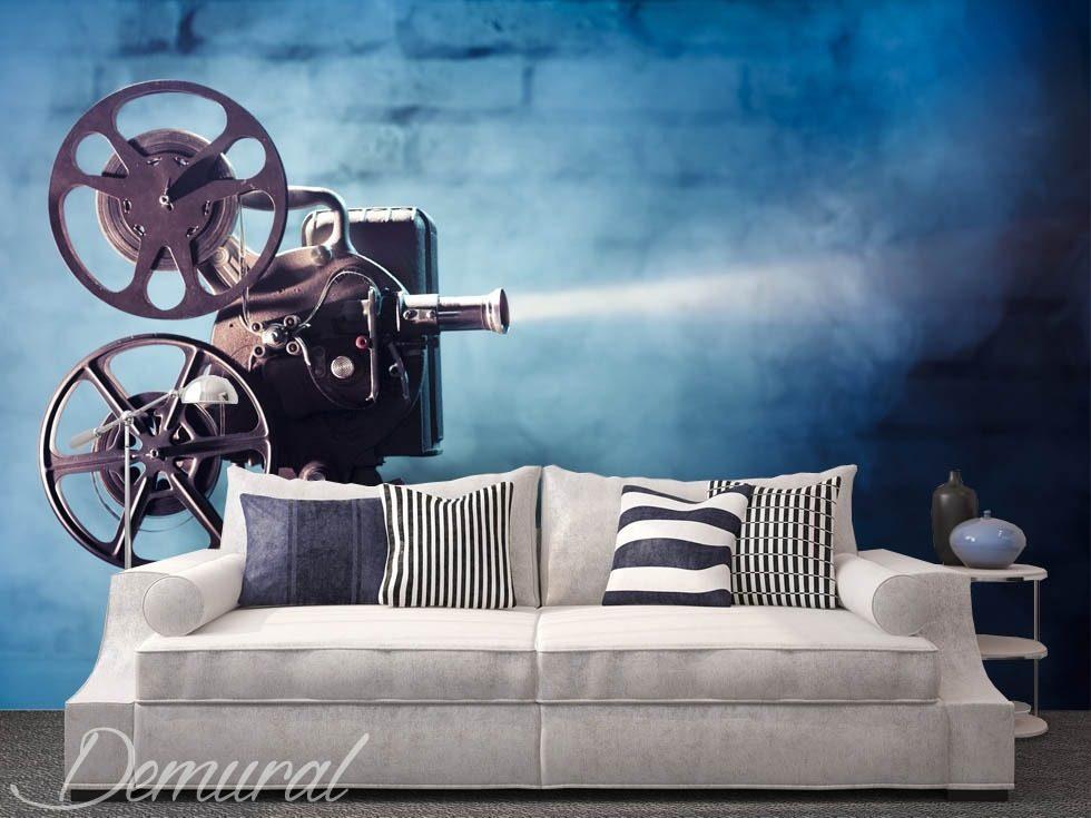 ... daller au cinema papier peint pour le salon papiers peints demural