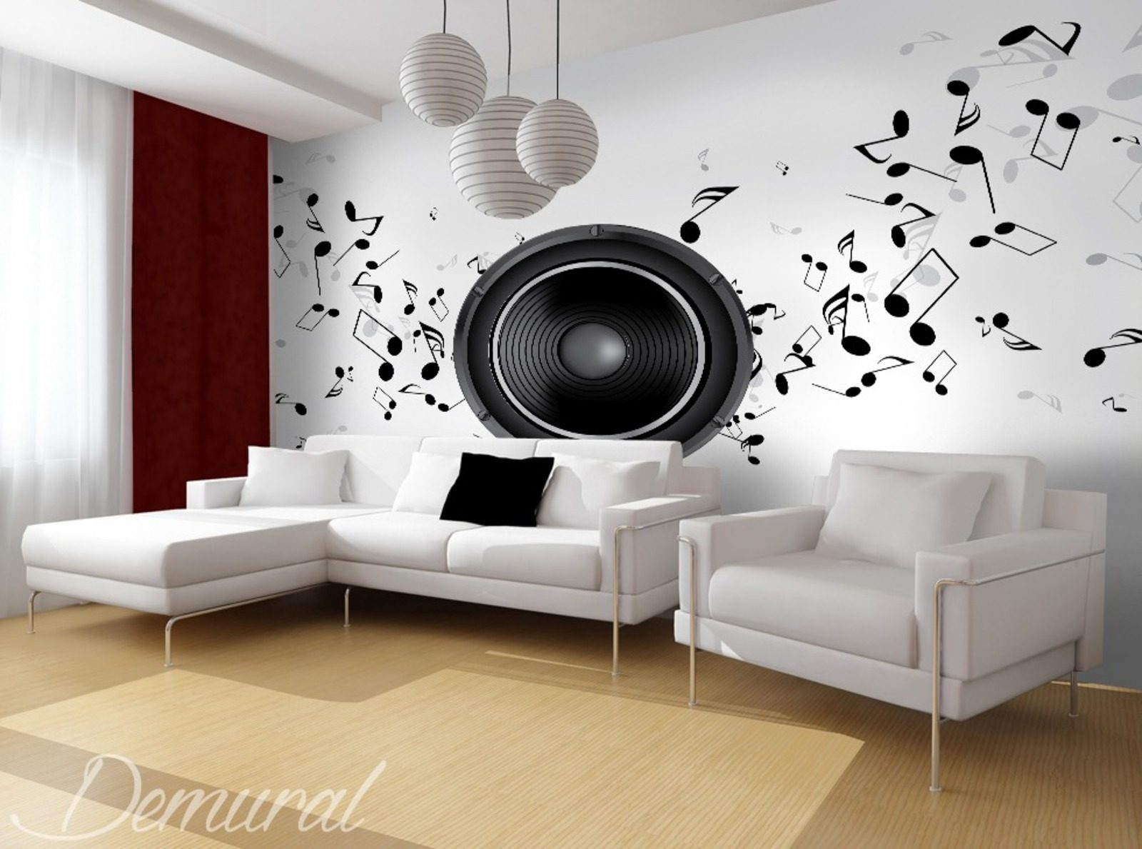 club des musiciens papier peint pour living room le salon papiers peints demural. Black Bedroom Furniture Sets. Home Design Ideas