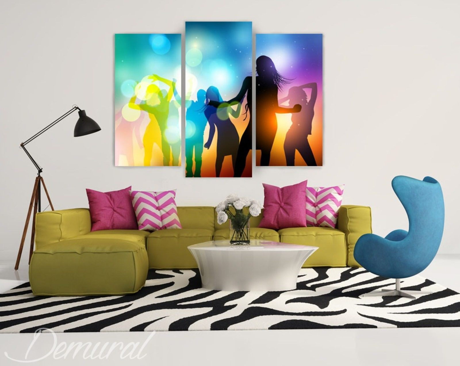 let 39 s dance tableaux pour salon tableaux demural. Black Bedroom Furniture Sets. Home Design Ideas