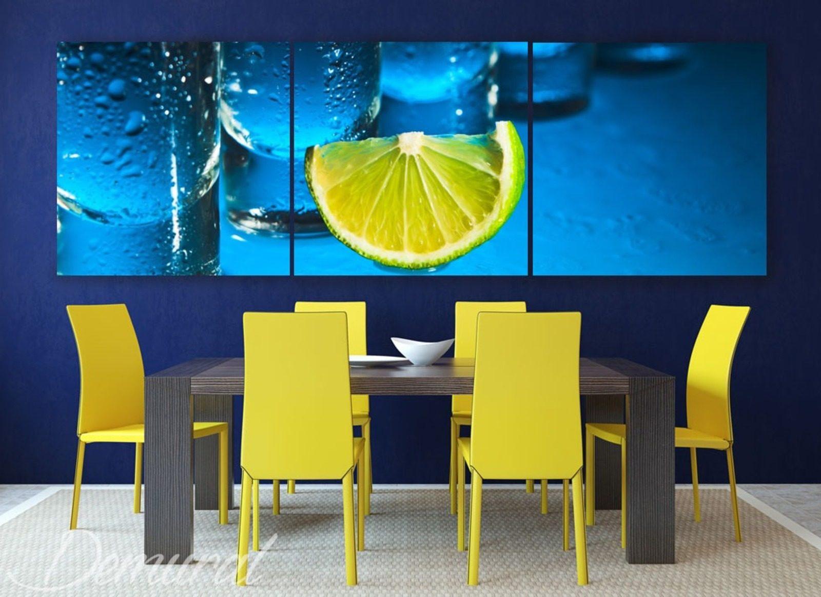 fraicheur du citron tableaux pour salle manger tableaux demural. Black Bedroom Furniture Sets. Home Design Ideas