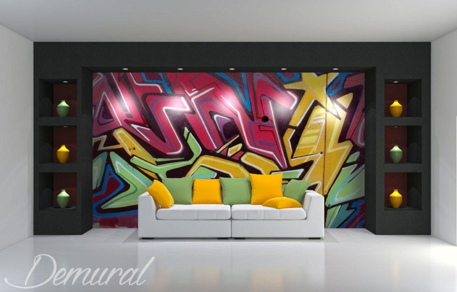 Graffiti Multicolore Graffiti Papiers Peints Papiers Peints Demural