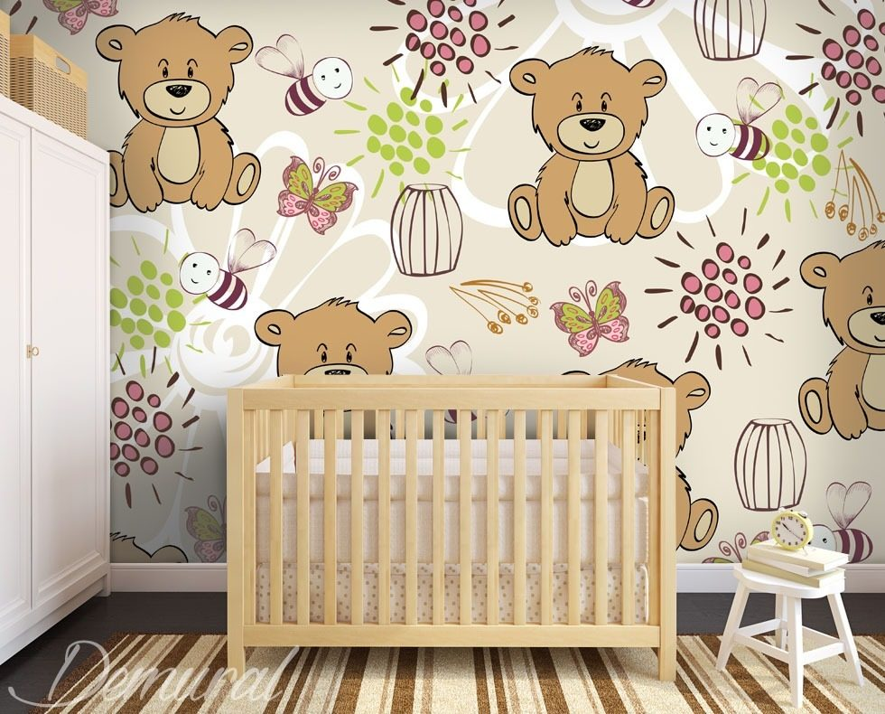 ours flottants papier peint pour la chambre d 39 enfant papiers peints demural. Black Bedroom Furniture Sets. Home Design Ideas