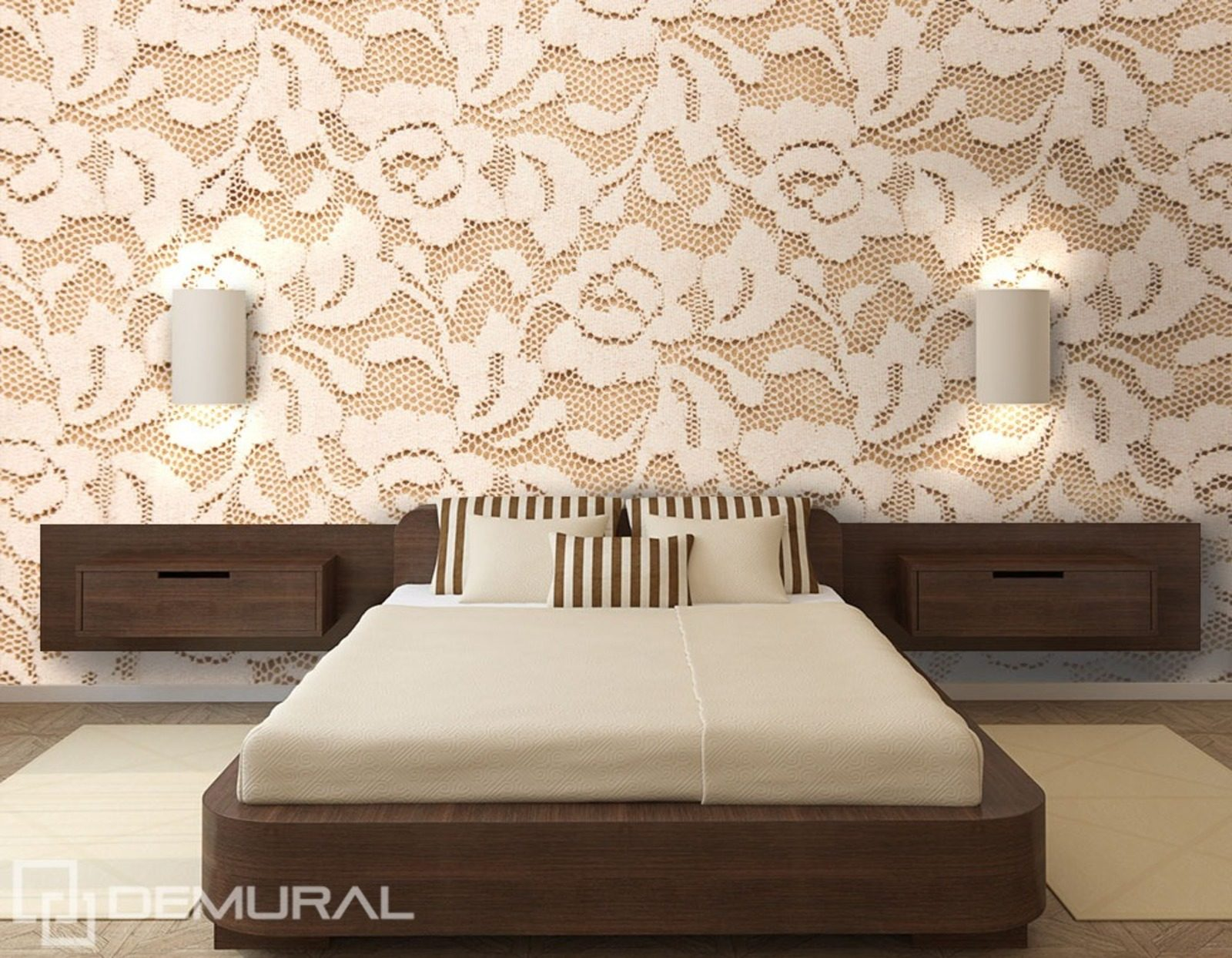 roses en dentelle papier peint pour le chambres coucher papiers peints demural. Black Bedroom Furniture Sets. Home Design Ideas