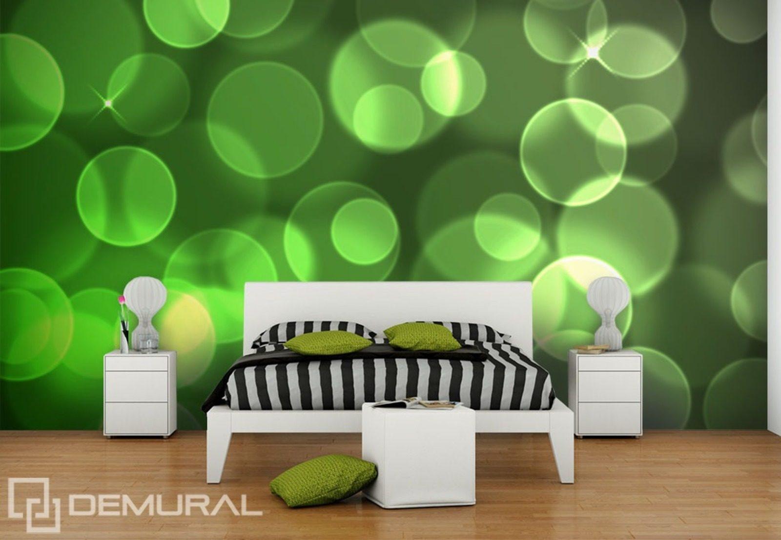 Ronds dans le vert  Papiers peints Abstraction  Papiers