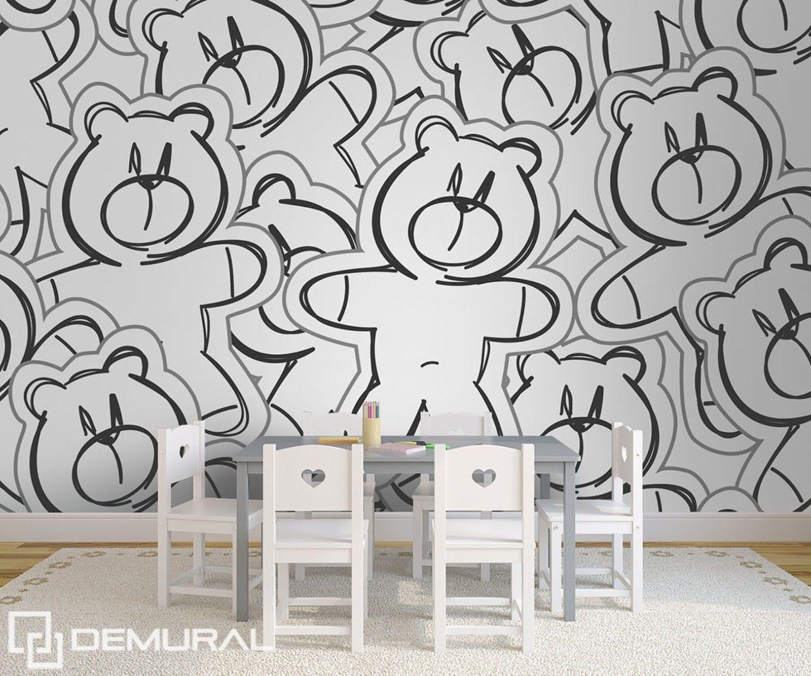c lin de l 39 ours papier peint pour la chambre d 39 enfant papiers peints demural. Black Bedroom Furniture Sets. Home Design Ideas