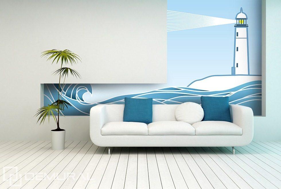 lumiere du phare papiers peints style nautique papiers peints demural. Black Bedroom Furniture Sets. Home Design Ideas