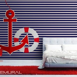 lumiere du phare papiers peints style nautique papiers peints demural. Black Bedroom Furniture Sets. Home Design Ideas