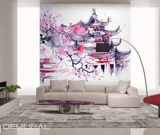 papier peints oriental demural. Black Bedroom Furniture Sets. Home Design Ideas