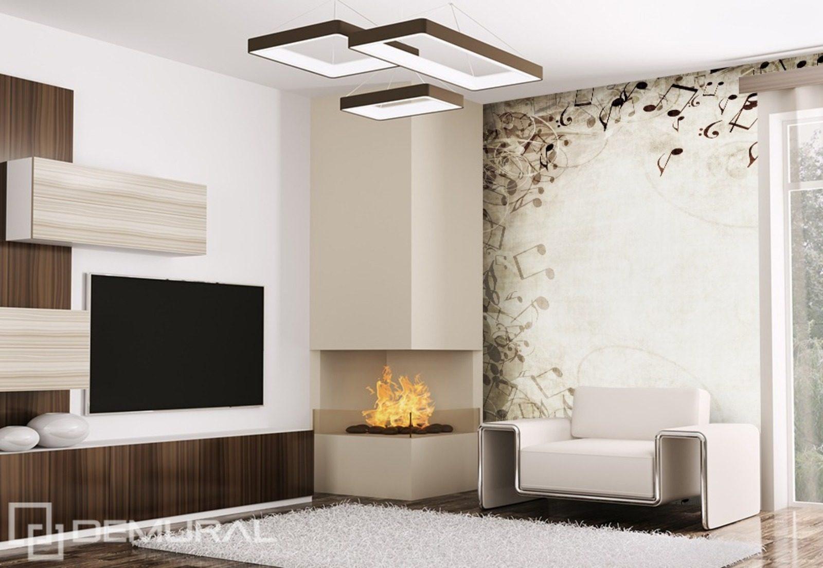 cadre musical papiers peints abstraction papiers peints demural. Black Bedroom Furniture Sets. Home Design Ideas