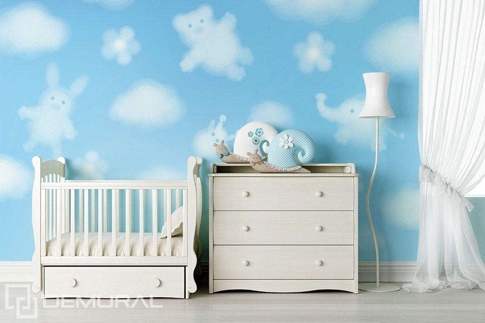 dr les de nuages papier peint pour la chambre d 39 enfant. Black Bedroom Furniture Sets. Home Design Ideas
