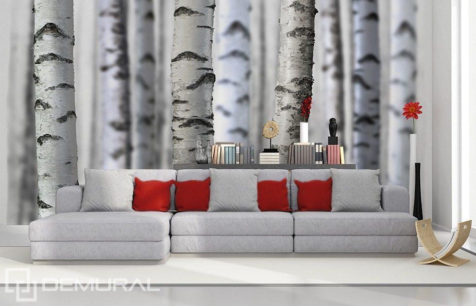Noir et blanc dans la nature - Papiers peints forêt - Papiers peints ...
