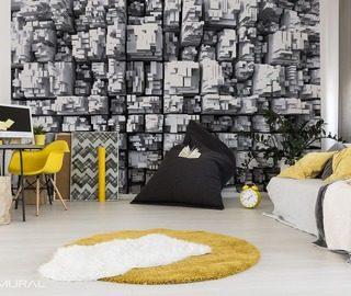 Papiers peints en noir et blanc - Peinture murale – Demural