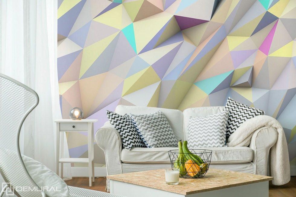 Geometrique Et Pastel Papiers Peints Abstraction Papiers Peints