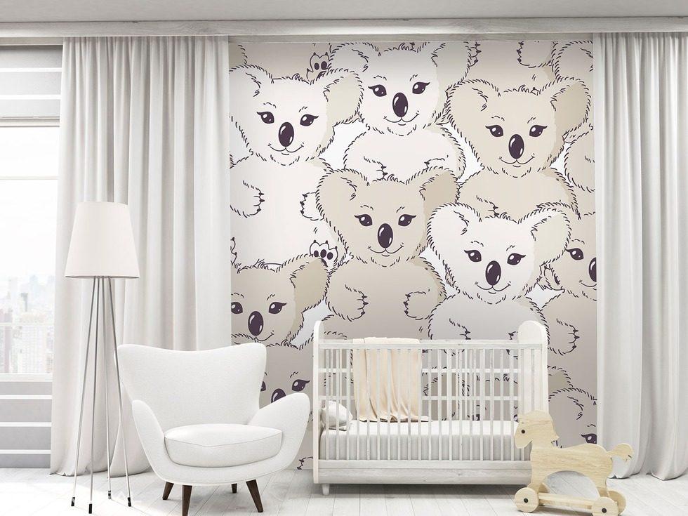 Koala sur le mur papier peint pour la chambre d 39 enfant for Papier peint pour chambre