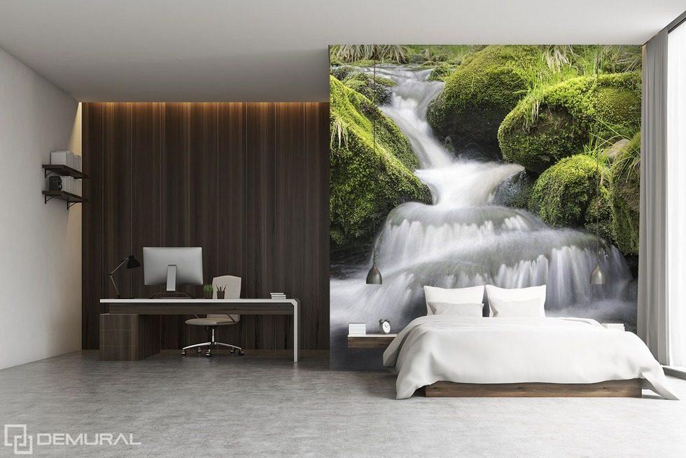 En tombant dans le pr cipice inondation papier peint - Papier peint chambre a coucher ...